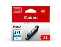Canon 0337C001AA Cyan Genuine Ink Cartridge (CLI-271XL)