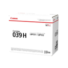 039H Canon Original Black High Yield Toner imageClass LBP351dn LBP352dn