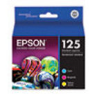Genuine EPSON T125 Color Ink Cartridges (T125520), Combo 3 Pack