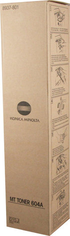 New Original Konica Minolta 604A Black Toner Cartridge