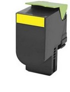 LEXMARK 80C1SY0 Yellow Remanufactured Toner Cartridge (2,000 Yield)