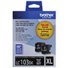 Genuine Brother LC1032PKS High Yield Black Twin Pack Ink Cartridge