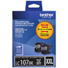 Genuine Brother LC1072PKS High Yield Black Twin Pack Ink Cartridge