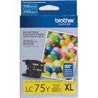 Genuine Brother LC75Y Yellow Ink Cartridge