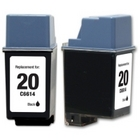 HP 20 Black Remanufactured Ink Cartridge (C6614DN) (#20)