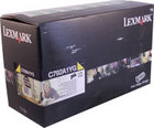 Genuine Lexmark C792A1YG Yellow Toner Cartridge (6,000 Yield)