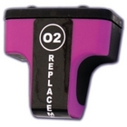 HP 02 Magenta Remanufactured Ink Cartridge (c8772wn) (#02)
