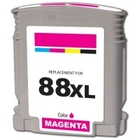 HP 88XL Magenta Remanufactured Ink Cartridge (C9392AN,C9387AN) (#88XL)