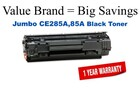 HP CE285-Jumbo Black JUMBO High Yield Remanfactured Toner 3,000 Yield