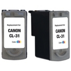 Canon CL-31 Tricolor Remanufactured Ink Cartridge (CL31)