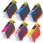 Canon CLI-42 - Remanufactured 6 Color Ink Catridge Set (Black, Cyan, Magenta, Yellow, Photo Cyan, Photo Magenta)