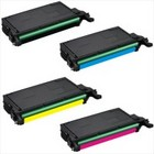 Remanufactured 4 Color Set toner for use in CLP660/10 Samsung