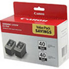 Genuine Canon 0615B013 Black Twin Pack Ink Cartridge (PG-40)
