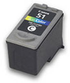 Genuine Canon CL-51 High Yield Tri-Color Ink Cartridge (0618B002)