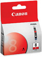 Genuine Canon CLI-8R Red Ink Cartridge (0626B002)