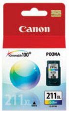 Genuine Canon CL-211XL High Yield Tri-Color Ink Cartridge (2975B001)