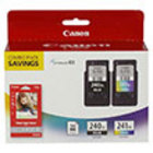 Genuine Canon 5206B005 Black and Tri-Color Combo Ink Pack (PG-240XL/CL-241XL)