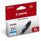 Canon 6449B001 Cyan Genuine Ink Cartridge (CLI-251XL)