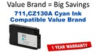 HP CZ130A Cyan Remanufactured Ink Cartridge