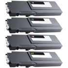 DELL S3840cdn, S3845cdn New Generic High Yield 4 Color Toner Set Toner Cartridge