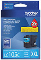 Genuine Brother LC105 Cyan Super High Yield Ink Cartridge