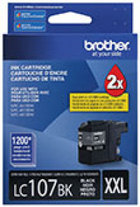 Genuine Brother LC107 Black Super High Yield Ink Cartridge