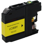 Brother LC205Y High Yield Yellow Remanufactured Ink Cartridge