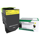 Genuine Lexmark 71B1HY0 Yellow High Yield Toner 3,500 Yield