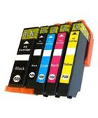 Canon PGI280XL, CLI281XL - Remanufactured 5 Color Ink Catridge Set (PGI280XL Black CLI281XL Black Cyan Magenta Yellow)