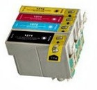 Epson T126 - 4 Color Ink Cartridge Set, Remanufactured BCMY Combo
