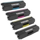 Brother TN433 High Yield Remanufactured Toner Set (Black, Cyan, Magenta, Yellow)
