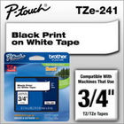 New Original Brother TZE-241 Black/White Tape