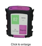 HP 82 Magenta Remanufactured Ink Cartridge (C4912A) (#82)