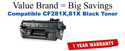 OEM Equivalent CF281 toner cartridge